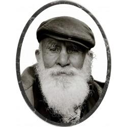 Médaillon funéraire homme barbue