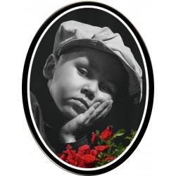 Médaillon funéraire enfant parisien